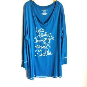 Cacique Sleep Top Lets Drink Champagne Sayings